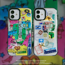 Vintage Illustration Stamp Pattern Phone Case Cover For iPhone 11 Pro Max 12 XR $10.51