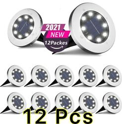 12PACK Solar In Ground Lights Outdoor Buried Lamp Disk LED Lawn Pathway Garden $32.96