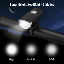 USB Rechargeable LED Bicycle Headlight Bike Head Light Lamp Cycling 3 modes $6.69