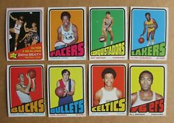 1972 73 TOPPS BASKETBALL CARD SINGLES COMPLETE YOUR SET PICK CHOOSE $2.29