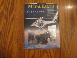 AH 64 APACHE Helicopter Boeing Silver Edition Metal Earth 3D Model NEW $10.99