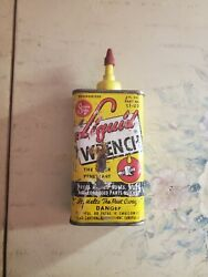Vintage Solder Seal LIQUID WRENCH Advertising Tin Oil Can Radiator Specialty $7.50