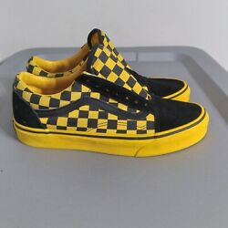 Vans Checkerboard Off The Wall Women#x27;s Size 7.5 Shoes Yellow Black Low Sneakers $18.10