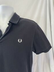 Fred Perry Polo Shirt Size Large Navy Blue $24.99