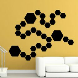 12 36x Self Adhesive Mirror Tiles Kitchen Wall Sticker Stick on Decal Home Decor $7.22