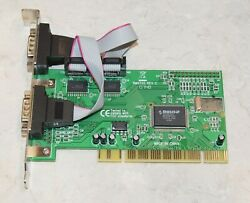 SYBA PCI to DB 9 RS 232 Serial 2 port host controller card Model SD PCI 2S Used $9.98