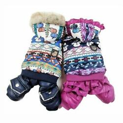 Hooded Thickness Pet Dogs Winter Coat With Snowman Pattern Small Puppy Clothing $8.49