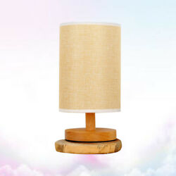 Home LED bedside table lamps Table Bedside Wood bedroom lamps Night Lamp Light $23.72