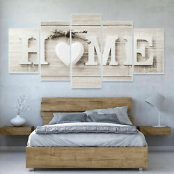 5PCS Concise Wall Paintings Home Letter Printed Fashion Photo Art Wedding Decor $12.34