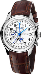 CROWNQIN Mens Watches with Leather Strap Stainless Steel Analog Automatic Mecha $92.98