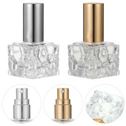 4 Pcs Perfume Refillable Glass Bottle Liquid Sprayer Glass Container for Storage $11.91