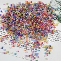 2 4mm Glass Colorful Loose Beads Accessories Handmade DIY Jewelry Materials C $2.25