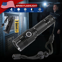 Most powerful 90000LM Flashlight On or off click Telescopic focusing Charger BT $19.81