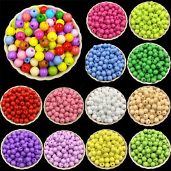 50PCS 6mm Acrylic beads Loose Beads Jewelry Accessories DIY Findings round C $1.76