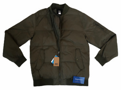 VANS STRAHORN QUILTED BOMBER JACKET COAT GREEN MENS SIZE SMALL S DUPONT NWT $59.95