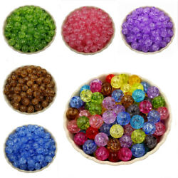 20Pcs 8mm Crackle Loose Bead Spacer Beads DIY Jewelry Accessories Pendant C $1.47