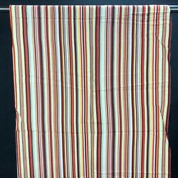 Vintage Material Fabric Textile Striped 107quot;x 38quot; 2.95 Yards Orange Brown Yellow $76.64