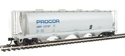 WALTHERS MAINLINE HO 59#x27; Cylindrical Covered Hopper Procor 3 Car Set $85.37
