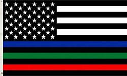 COSKAKA Thin Blue Green and Red Line American US Flag Patriotic USA Honoring ... $12.15