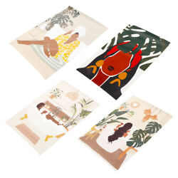 4pcs Unique Artistic Frameless Wall Paintings Fabric Paintings $12.18
