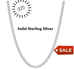 REAL Italian Sterling Silver Mariner Link Chain Necklace $7.99