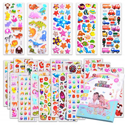 Kids Stickers 1000 40 Different Sheets 3D Puffy Stickers for Kids Bulk for $10.95