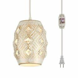 YLONG ZS Hanging Lamps Swag Lights Plug in Pendant Light 16 FT Cord and Chain... $40.08