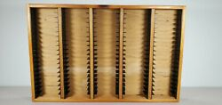 100 Cassette Tape Wall Mount Wood Storage Rack holds 100 Tapes $54.99