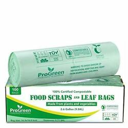 ProGreen 100% Compostable Bags 2.6 Gallon Extra Thick 0.71 Mil 100 Count Smal... $22.27