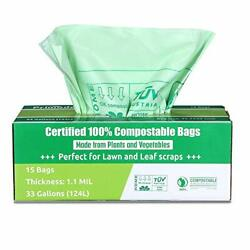 Primode Compostable Bags 30 33 Gallon Lawn Leaf Extra Large Trash Bags 15 Cou... $23.67