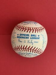 1995 Milwaukee Brewer Team Signed Official AL Baseball by 24 $29.99