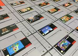 Super Nintendo SNES Original Video Game Cartridges *Authentic Cleaned Tested*