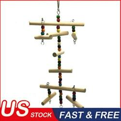 Parrot Cage Bite Toy Bird Colorful Bead Hanging Toys Budgie Climbing Ladder $11.37