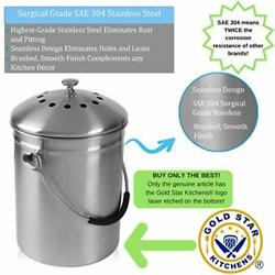 Gold Star Kitchens Kitchen Compost Bin Countertop Pail Bucket Container with $46.29