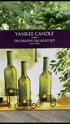 YANKEE CANDLE Decorative Set of 3 Tea Light Bottles and Different Holders $24.00