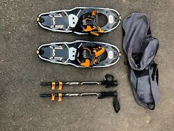 Mountain Profile Yukon Charlie Snowshoes with poles and bag size 825 $70.00