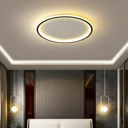 Modern Led Ultra thin Chandelier For Living Room Bedroom Rc Square round Ceiling $212.99