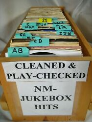 JUKEBOX NM 45 rpm vinyl records pop 70s 80s Rock you select CLEANED amp; PLAYS. $5.99