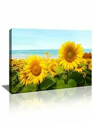 Flower Wall Art for Living Room Canvas Painting for Bathroom Bedroom Decor Su... $25.36