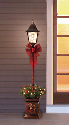 Christmas Lamp Post Tree Stand Decoration Xmas Outdoor Yard Decor Clear Light 4#x27; $39.99