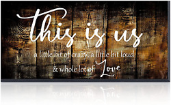 Outus This Is Us Crazy Love Family Sign Rustic Farmhouse Rustic Wall Decor Ready $13.35