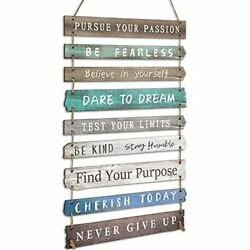 Rustic Wall Hanging Plaque Sign Inspirational Wall Art for Your Home Green $32.87