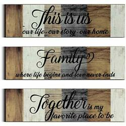 3 Pieces This is Us Sign Rustic Family Home Decor Wooden Sign Together Hanging $23.98
