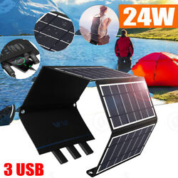 24W # USB Flexible Solar panel Mono Module for Camping Boat RV Home Solar Charge