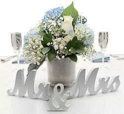 MR amp; MRS Sign Wedding Sweetheart Table Decorations Mr and Mrs Letters Decorative $10.99