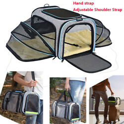 Pet Dog Small Cat Carrier Soft Sided Comfort Bag Travel Case Airline Approved $24.99