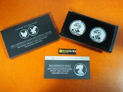 IN STOCK: 2021 W amp; S REVERSE PROOF SILVER EAGLE 2 COIN DESIGNER EDITION SET 21XJ $275.45