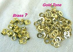 Vintage Chandelier Parts 15 Threaded Loops 96 Gold Tone Space Lot # 9 $44.95