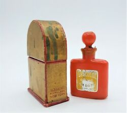 Vintage Mini Opaque Red Glass Robert New York with box 6 cm. H $38.00