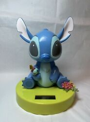 Large Solar Powered Dancing Bobblehead Toy Disney Stitch New In Box